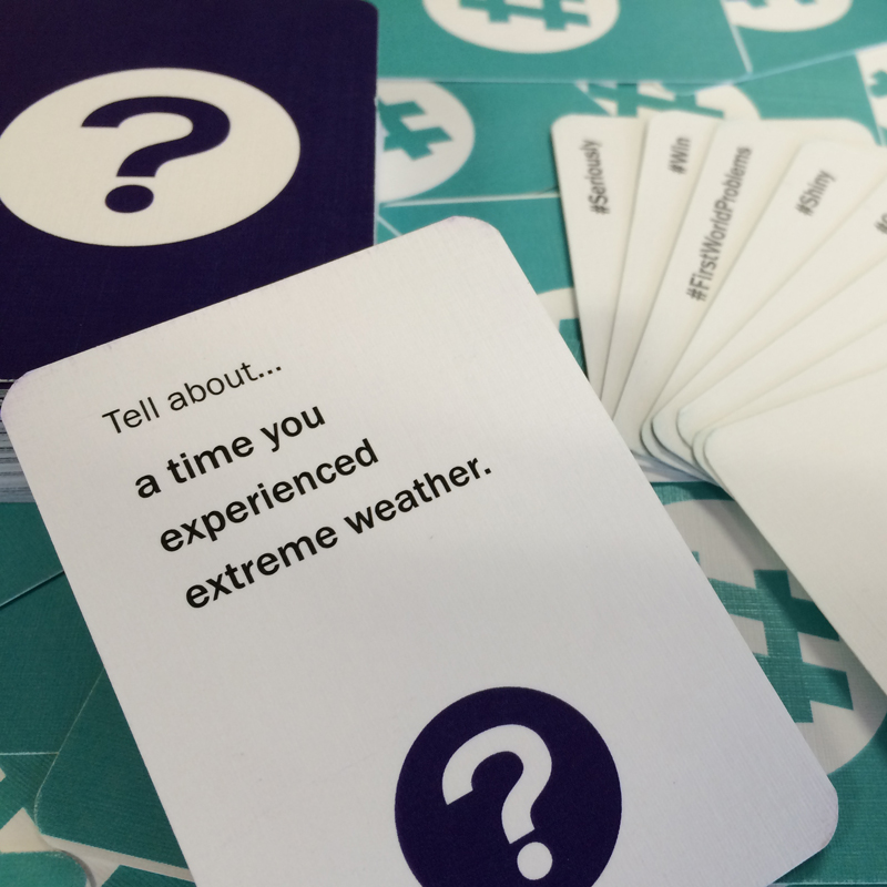 Image of Storytags cards on a table.